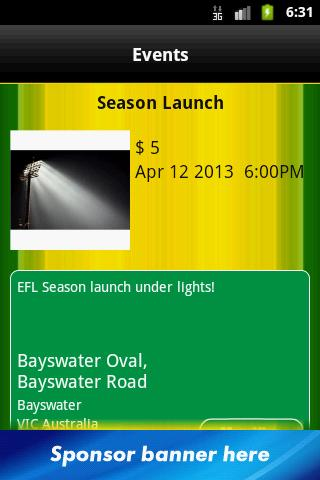 Bayswater Football Club- screenshot