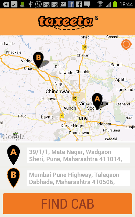 Taxi (Cab) Near Me (Pune)- screenshot