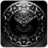 SILVER MOON ALARM CLOCK WIDGET