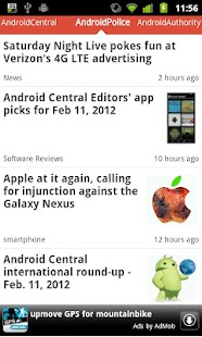 Android News Reader - screenshot thumbnail