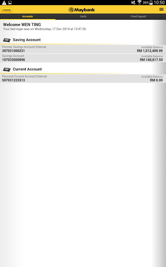 Maybank2u Malaysia - screenshot