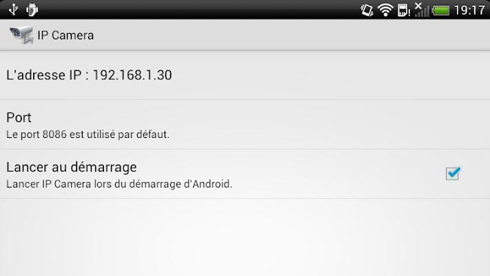 IP Camera - screenshot