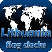 Lithuania flag clocks