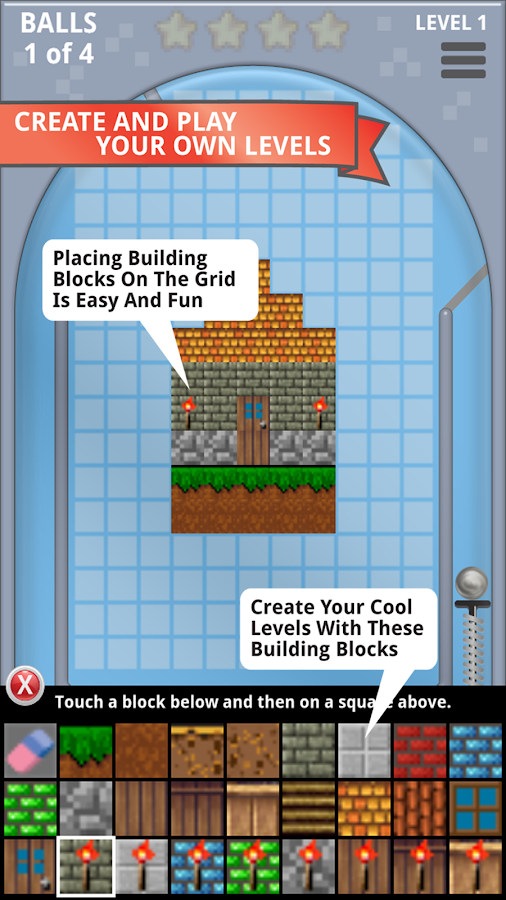 Pinball Block Break Craft Free- screenshot
