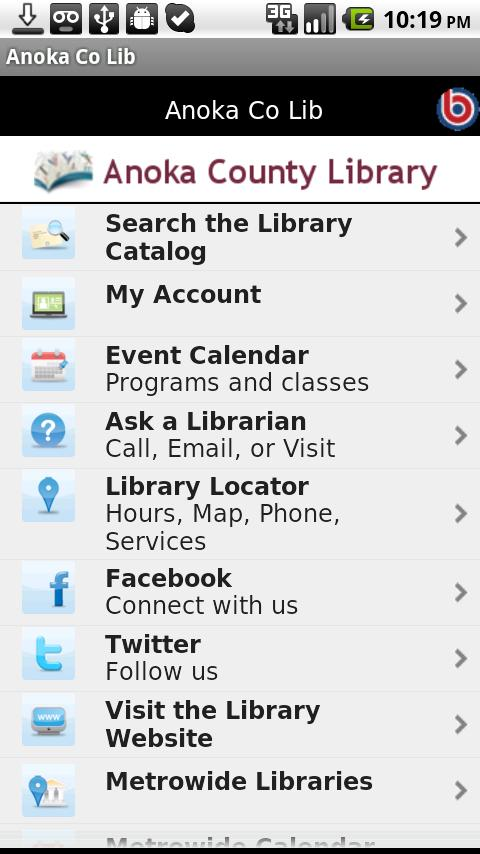 Anoka Co Lib- screenshot