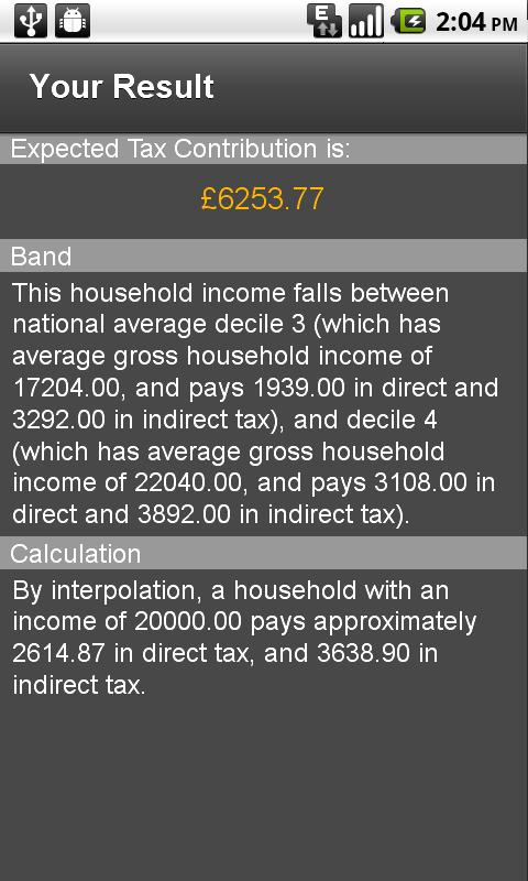 UK Tax Estimator - screenshot