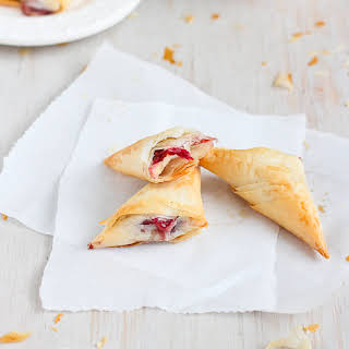 3-Ingredient Brie & Cranberry Phyllo Turnovers.