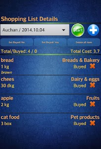 Easy Android Shopping List Pro screenshot 1