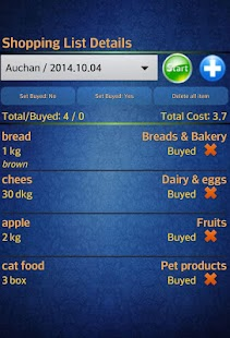 Easy Android Shopping List Pro- screenshot thumbnail