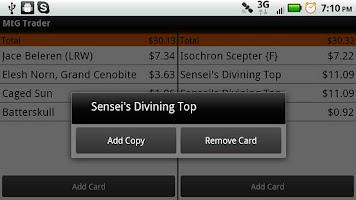 Screenshot of MtG Trader