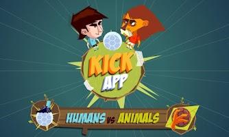 Screenshot of Kickapp Humans vs Animals