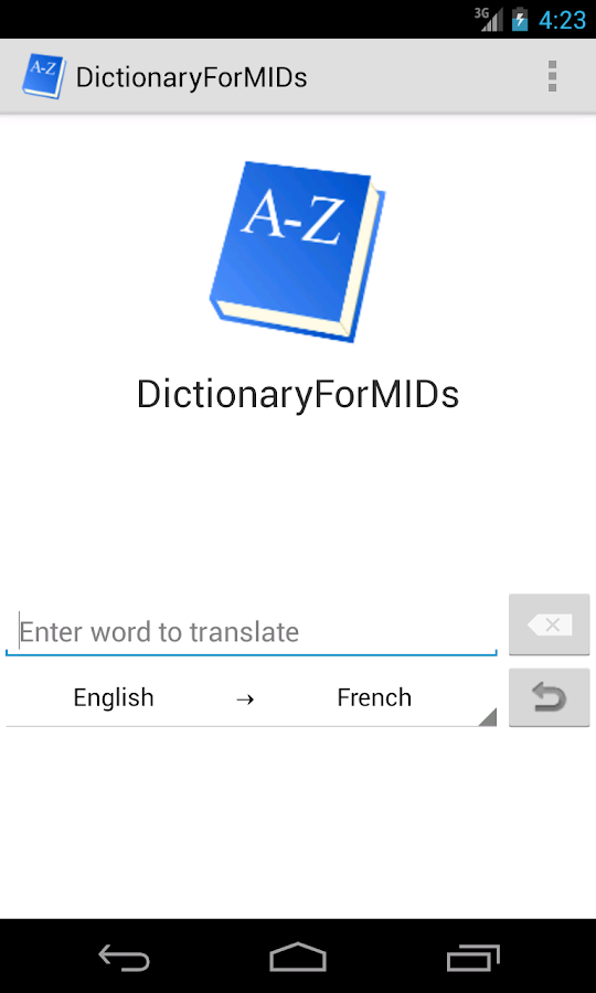 DictionaryForMIDs - screenshot