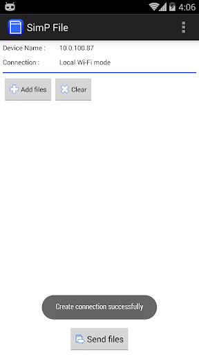 SimPFile : WiFi File Transfer