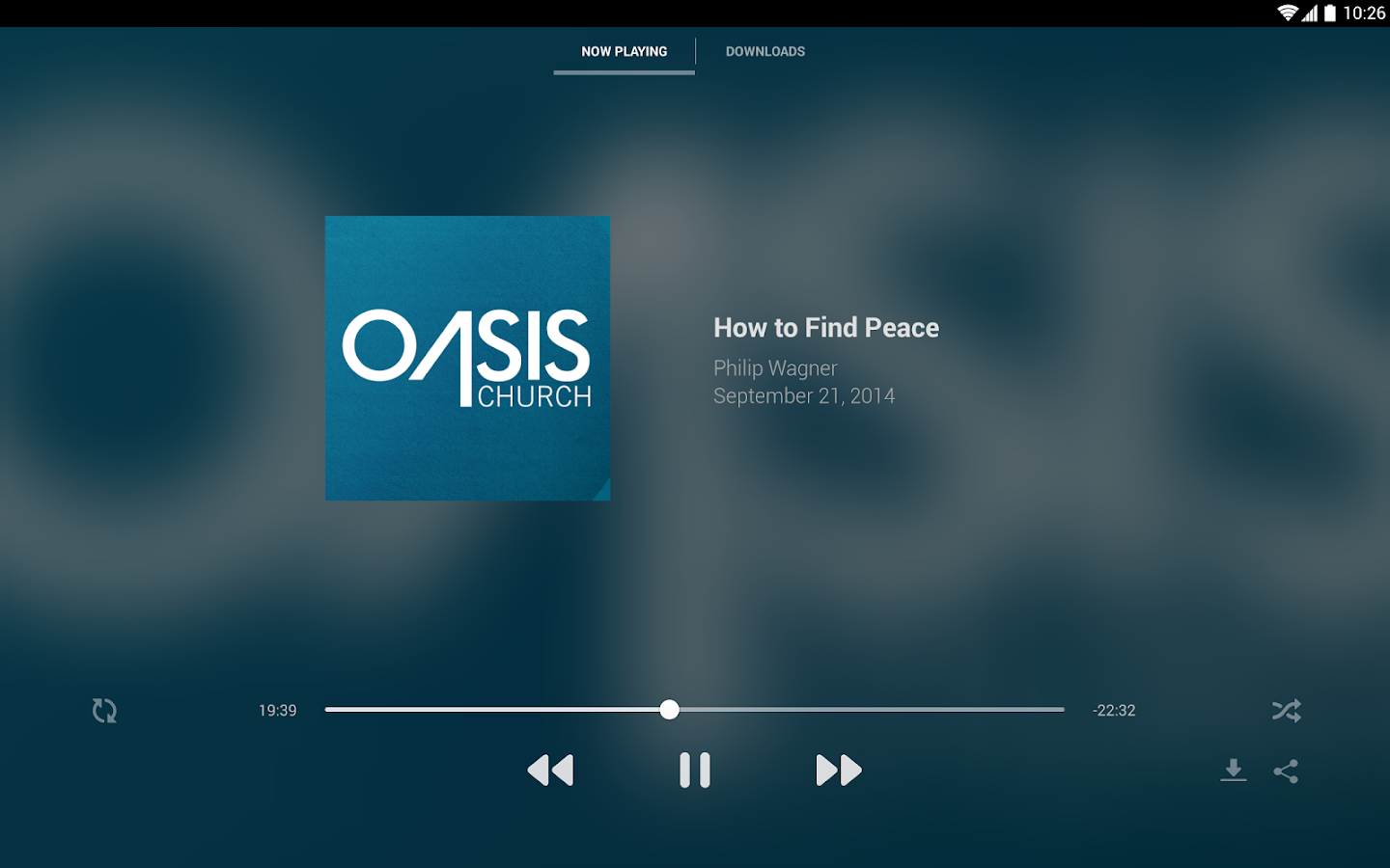 Oasis Church - screenshot