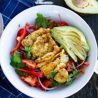 Warm Chicken Salad with Avocado Recipe