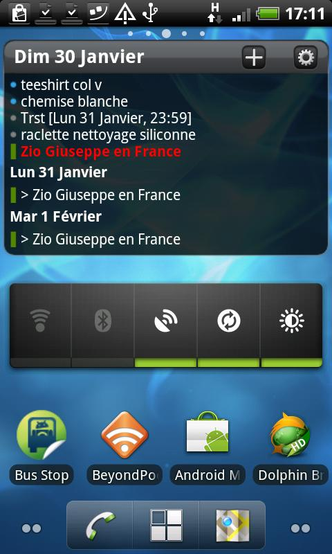 Pure Calendar widget (agenda) Screenshot 2