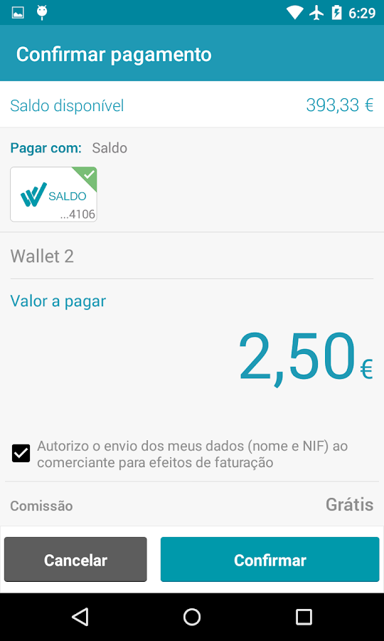 MEO Wallet- screenshot