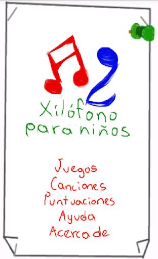 Xilófono para niños