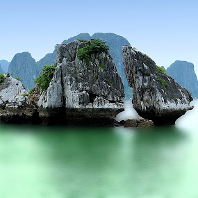 Halong Bay_ Vietnam by Hendrik Cuaca - Landscapes Mountains & Hills