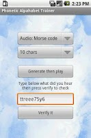 Screenshot of Phonetic Alphabet Trainer ICAO