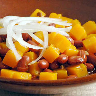 Frijoles Colorados (Red Beans with Squash).