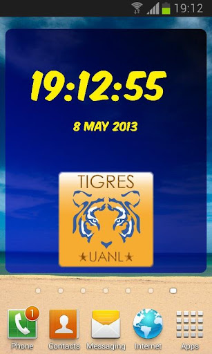 Digital Clock Tigres