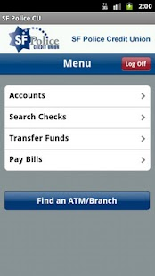 SF Police CU Mobile Banking - screenshot thumbnail