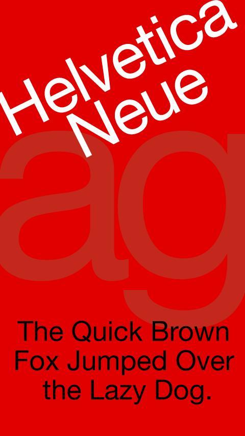 Helvetica Neue FlipFont- screenshot