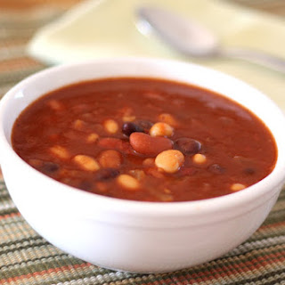 Vegetarian Four Bean and Chipotle Chili.