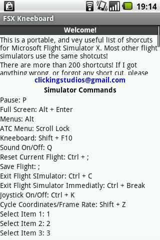 FSX Kneeboard - screenshot