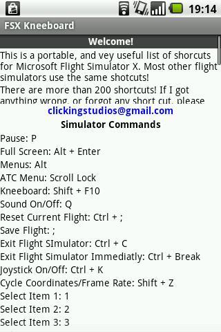 FSX Kneeboard - screenshot