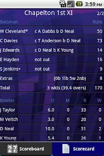 Total Cricket Scorer Lite - screenshot thumbnail