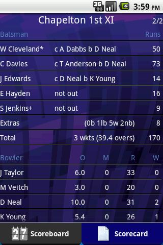 Total Cricket Scorer Lite - screenshot