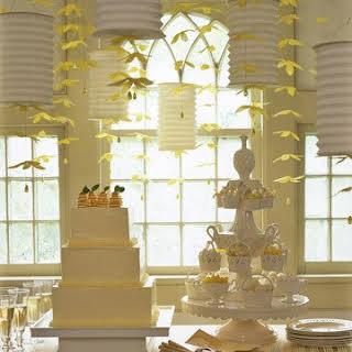 Martha's Meyer Lemon Anniversary Cake Assembly.