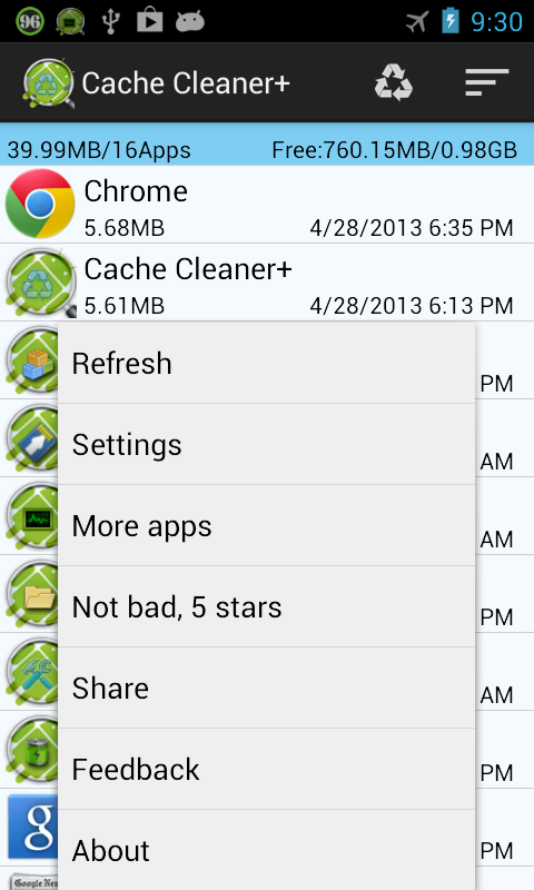 Cache Cleaner + - screenshot