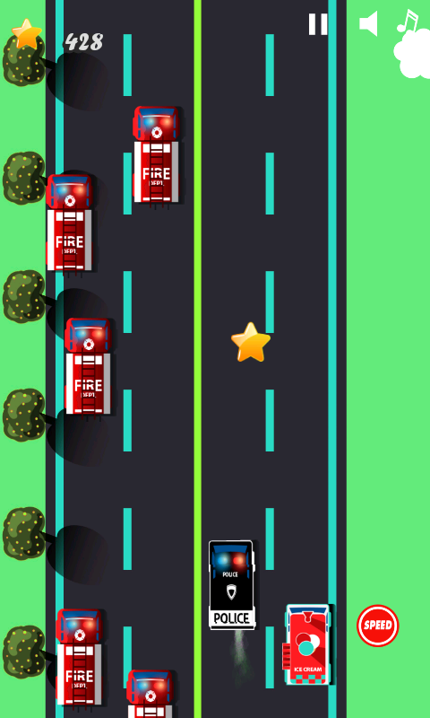 police car games for kids free screenshot