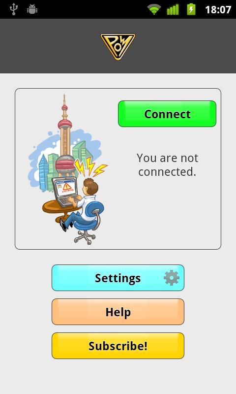 PandaPow VPN (Android 2.3)- screenshot