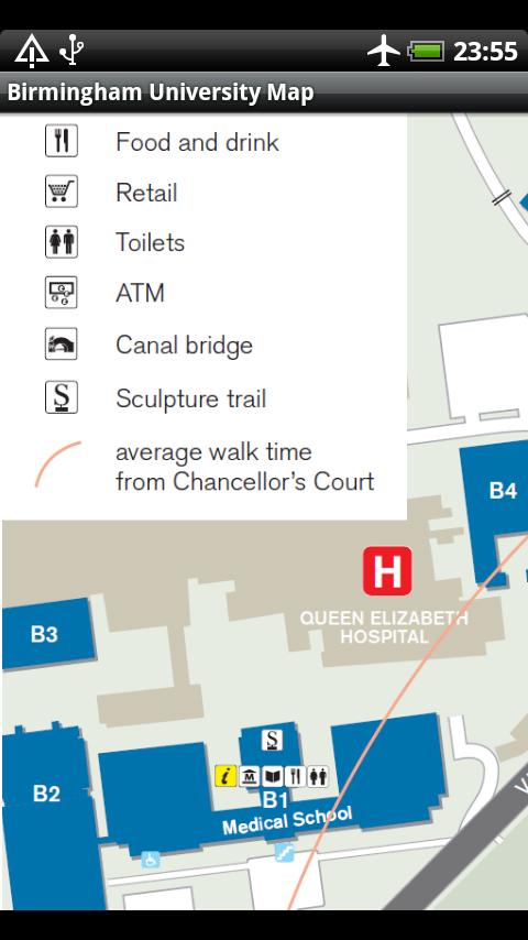 Birmingham University Map - screenshot
