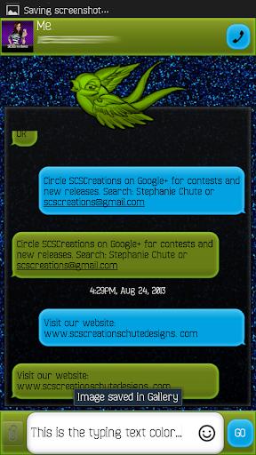 GO SMS - Precious Bird 3