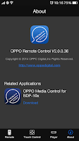 Screenshot of OPPO Remote Control