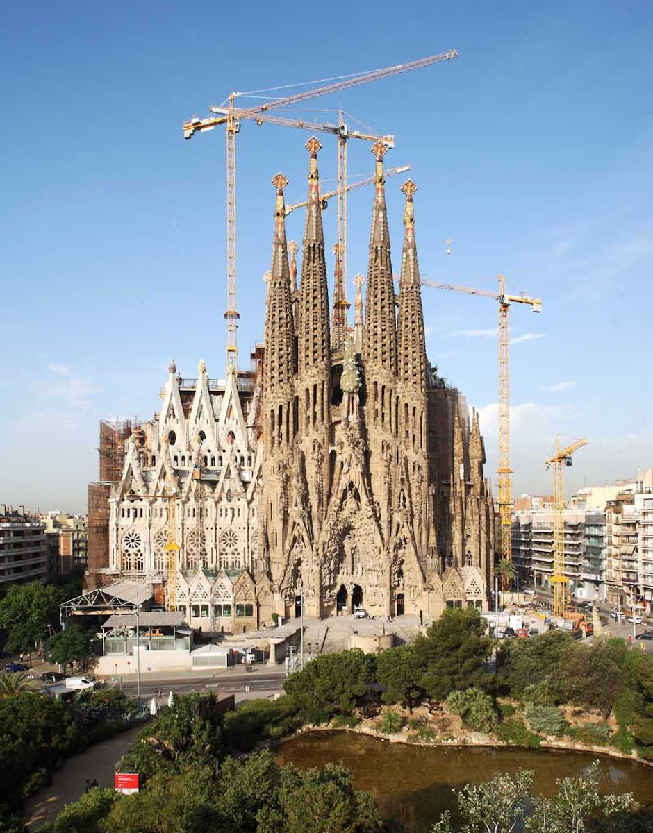 The Basílica and Expiatory Church of the Holy Family, popularly called Sagrada Família, is the large Roman Catholic church in Barcelona designed by Catalan architect Antoni Gaudí.