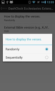 DashClock Bible Ecclesiastes - screenshot thumbnail