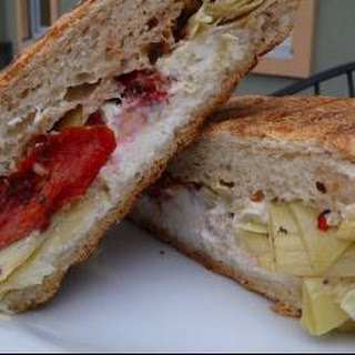 Goat Cheese, Artichoke And Sun-blush Tomato Panini.
