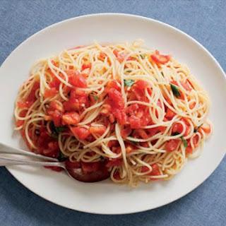 Spaghetti with Raw Tomatoes.