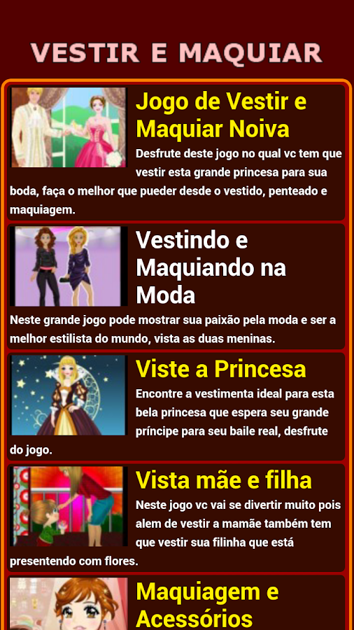 Jogos de Vestir e Maquiar - screenshot