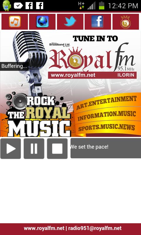 Royal FM 95.1- screenshot