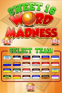 Sweet 16 Word Madness 2.0 - screenshot thumbnail