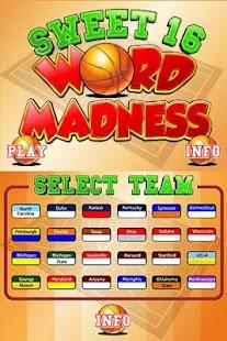 Sweet 16 Word Madness 2.0 - screenshot thumbnail