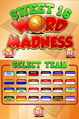 Sweet 16 Word Madness 2.0 - screenshot