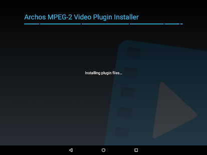 Archos MPEG-2 Video Plugin Screenshot 2